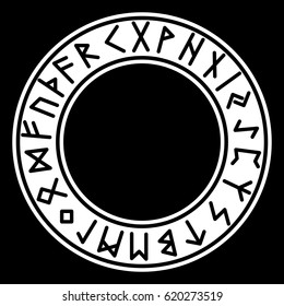 Runes. Futhark. Black