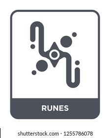 runes icon vector on white background, runes trendy filled icons from Magic collection