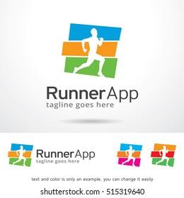 Runner App Logo Template Design Vector