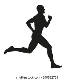 Runner isolated silhouette