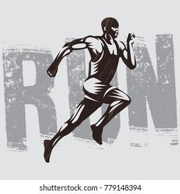 Runner Logo Isolated Athletics Illustration. Runner Logo Template.