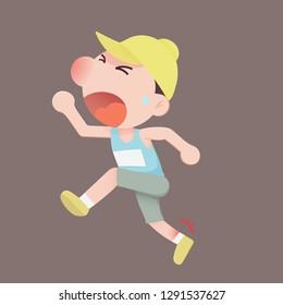 Runner men ankle pain when running , Hamstring injury
