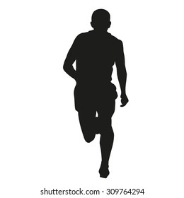 Runner silhouette. Front view