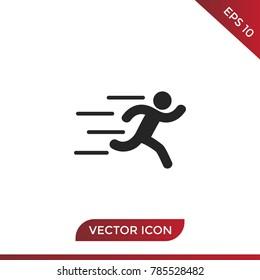 Runner silhouette icon