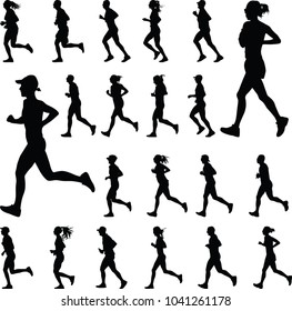 runner silhouette. run vector
