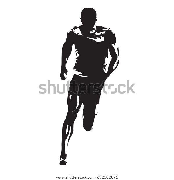 runner vector silhouette front view sprinting stock vector royalty free 692502871 https www shutterstock com image vector runner vector silhouette front view sprinting 692502871
