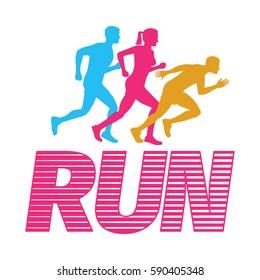 Imágenes, fotos de stock y vectores sobre Running Man