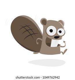running beaver clipart