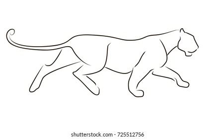 Panther Line Art Images Stock Photos Vectors Shutterstock