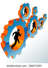 Running Business-Business executives working together