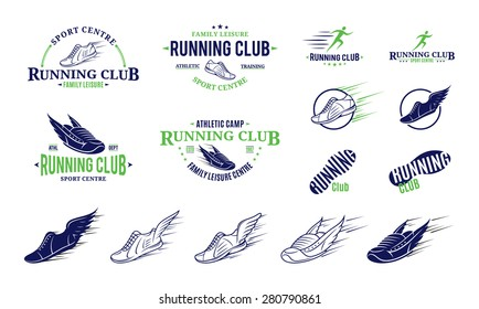 Running Club Logo, Labels, Icons and Design Element