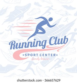 Running club logo template