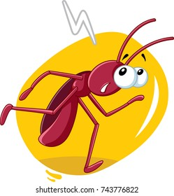 Running Cockroach Insect Vector Cartoon - Bad roach bug trying to escape insecticide