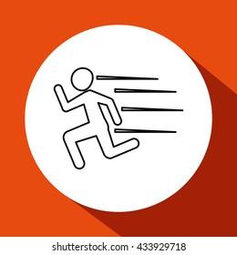 running design. sport icon. Isolated image