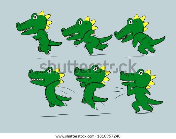running-dinosaur-illustration-japan-kawa