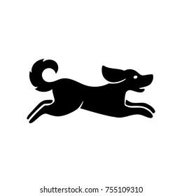 Running dog icon