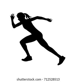 running girl icon, vector illustration