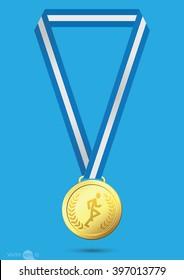 Running Gold medal