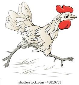 Running Hen