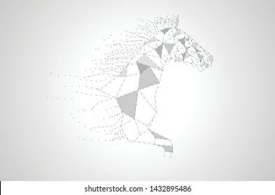 Running horse line art design