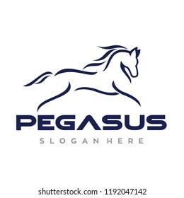 Running Horse Logo Design Inspiration Vector