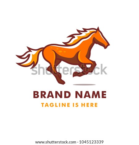 Running Horse Logo Template Stock Vector Royalty Free 1045123339