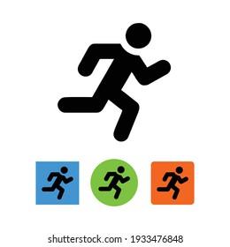 Running icon logo. Vector Illustration