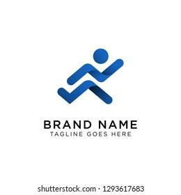 Running Logo Design Inspiration, Vector illustration