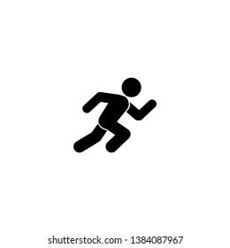 Running man, athletics, marathon, summer sport, run icon isolated on white background. Vector