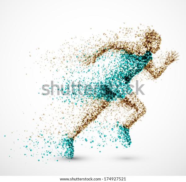 Running man from circles, eps 10.