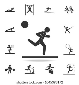 Running man icon. Detailed set of athletes and accessories icons. Premium quality graphic design. One of the collection icons for websites, web design, mobile app on white background