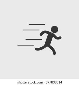 Running man  icon illustration isolated vector sign symbol