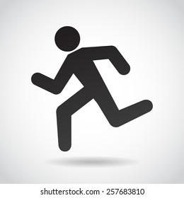 Running man icon isolated on white background, Vector art.