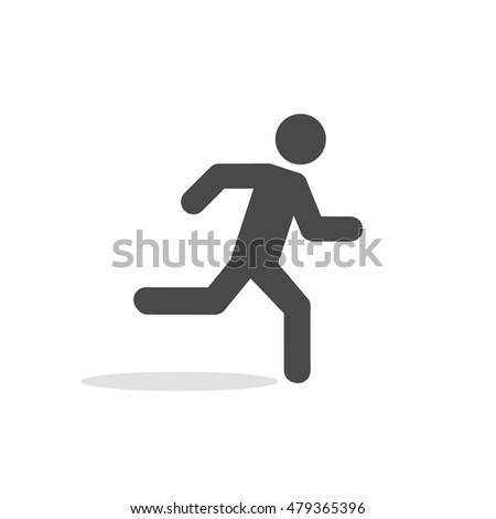Running Man Icon Simple Symbol Run Stock Vector Royalty Free