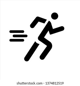 running man icon,vector