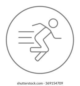 Running man line icon.
