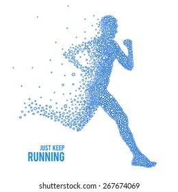 Running Man. Logo.