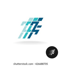 Running man logo. Running athlete symbol in corner square style.