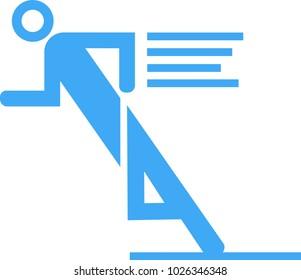 running man pictogram