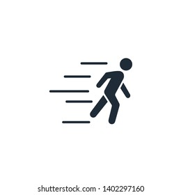 Running Man. Pursuit, hurry icon