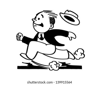 Running Man - Retro Clip Art Illustration