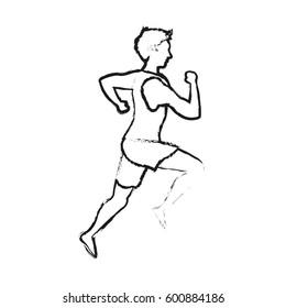 running man sport or health icon image