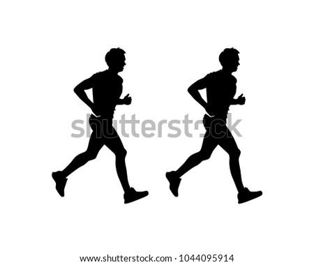 Running Man Symbol Silhouette Logo Vector Stock Vector Royalty Free