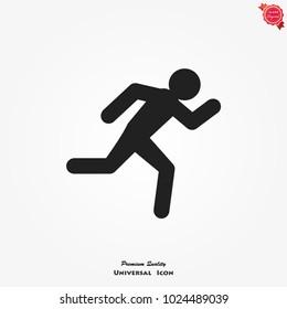 Running man vector icon