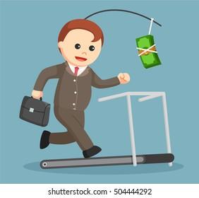 running on treadmill to get money