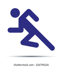 Running people. Simple symbol of run isolated on a white background. Vector Illustration.