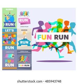 Running poster, Fun Run.