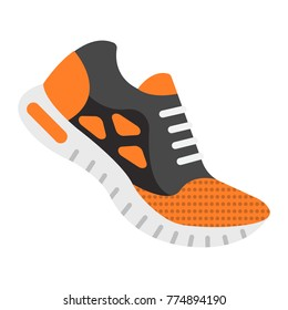 Running shoes flat icon, fitness and sport, gym sign vector graphics, a colorful solid pattern on a white background, eps 10.
