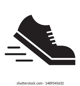 Running shoes icon design. Sport shoes icon in flat style design. Vector illustration.