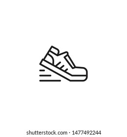 Running shoes icon. Fitness and sport, gym icon vector graphics. Trendy Flat style for graphic design, Web site, UI. EPS10. Vector illustration